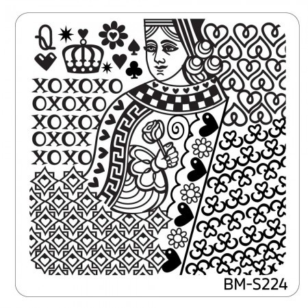 Bundle Monster - Valentine's Day Themed Nail Art Stamping Plates - Occasions Collection, BM-S224: The Queen