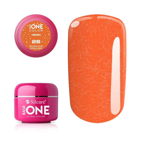 Base One - UV COLOR GEL - Neon - 26. Burning Orange