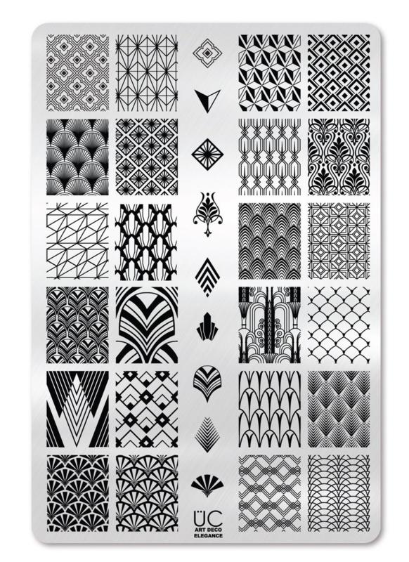 UberChic - Big Nail Stamping Plate - Art Deco Elegance