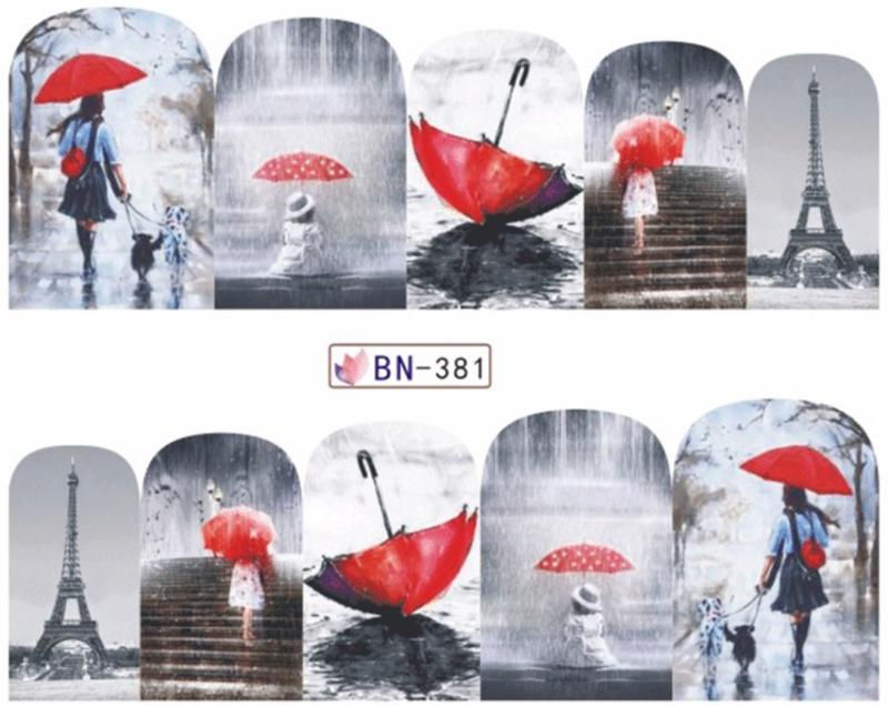 Waterdecals - Red Umbrella - BN381