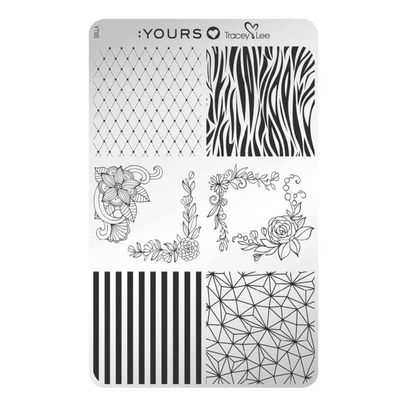 Yours Cosmetics - Stamping Plates - :YOURS Loves Tracy Lee - YLT05. Design Medley