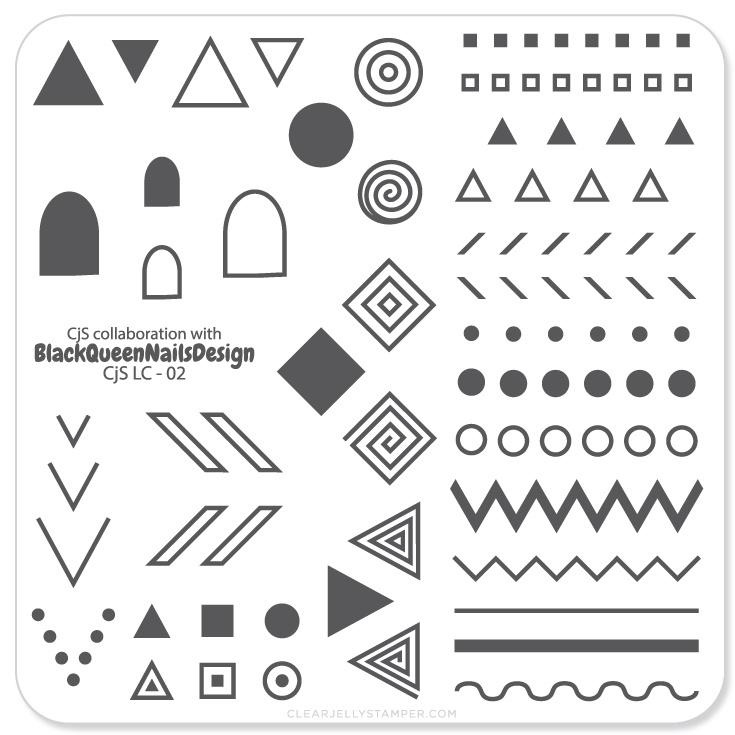 Clear Jelly Stamper - Stamping Plate - CJS_LC02 - Tribal; By BlackQueenNailDesign