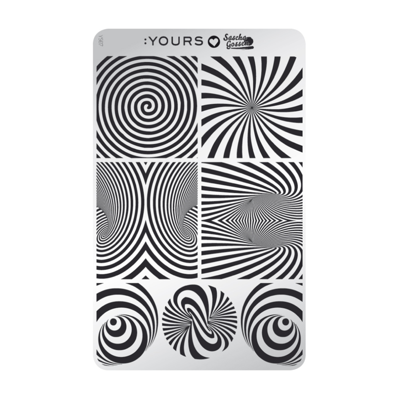 Yours Cosmetics - Stamping Plates - :YOURS Loves Sascha - YLS07. Illusional