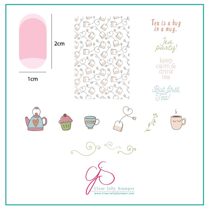 Clear Jelly Stamper - Stamping Plate - CJS_90 - Steeped