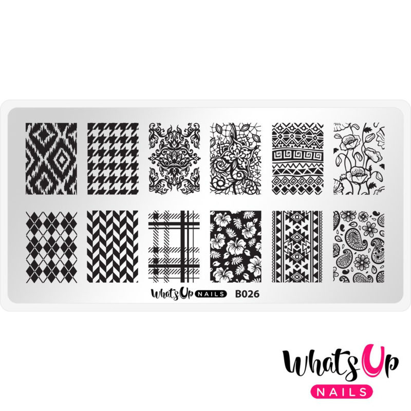 Whats Up Nails - Stamping Plate - B026 Fashion Prints