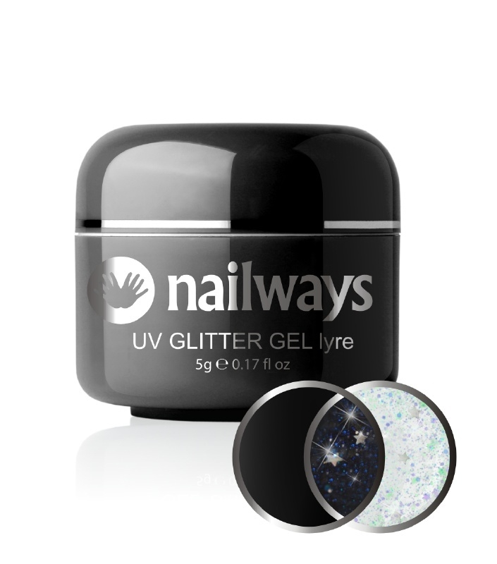 Nailways - NWUVGL02 - UV GLITTER GEL - Lyre