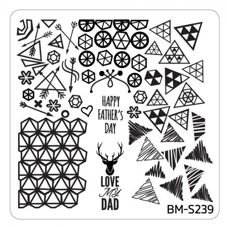 Bundle Monster - Father's Day Nail Stamping Plate - Occasion Collection, Daddy's Girl