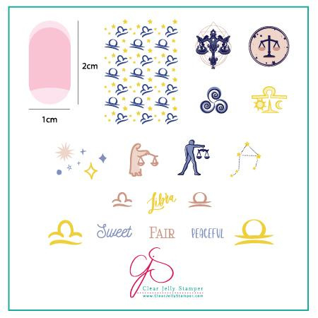 Clear Jelly Stamper - Stamping Plate - CJS_Z08 - Libra