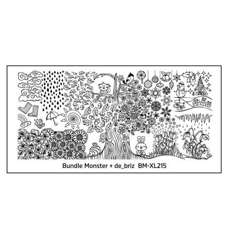Bundle Monster - de_briz Blogger Collaboration Nail Art Polish Stamping Plates - (BM-XL215)