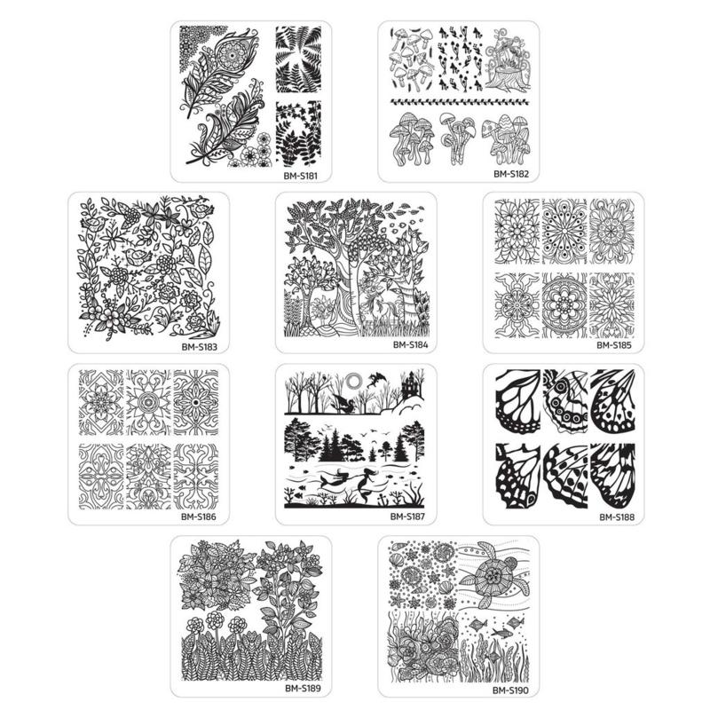 Bundle Monster - Stamping Plate Set - Mystic Woods, Set 2