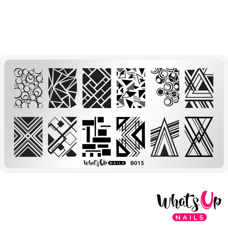 Whats Up Nails - Stamping Plate - B015 Geo-Radical