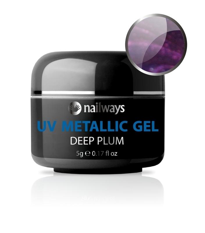 UV METALLIC GEL - Deep Plum