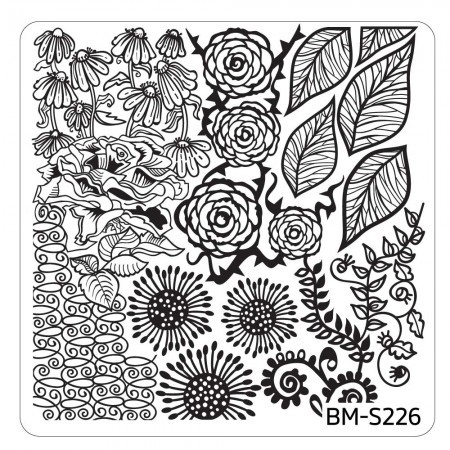 Bundle Monster - Spring Themed Nail Art Stamping Plates - Occasions Collection, BM-S226: First Blooms