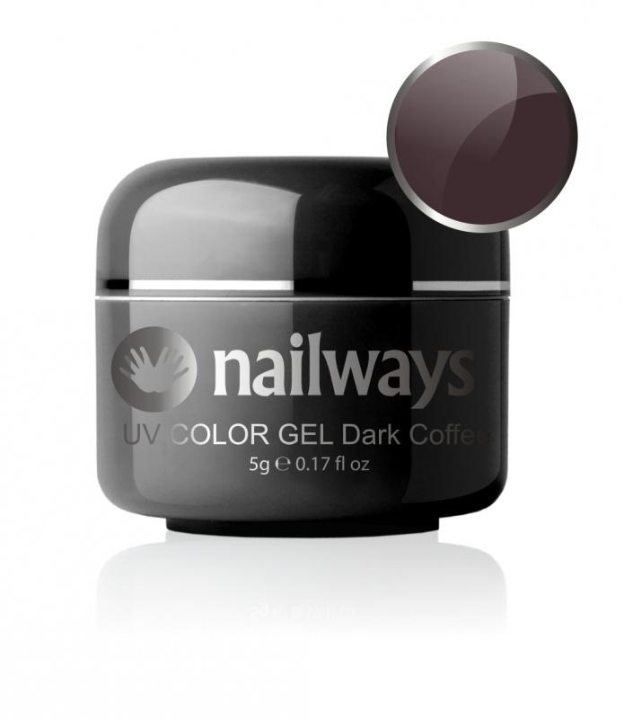 Nailways - NWUVC8 - UV COLOR GEL - Dark Coffee