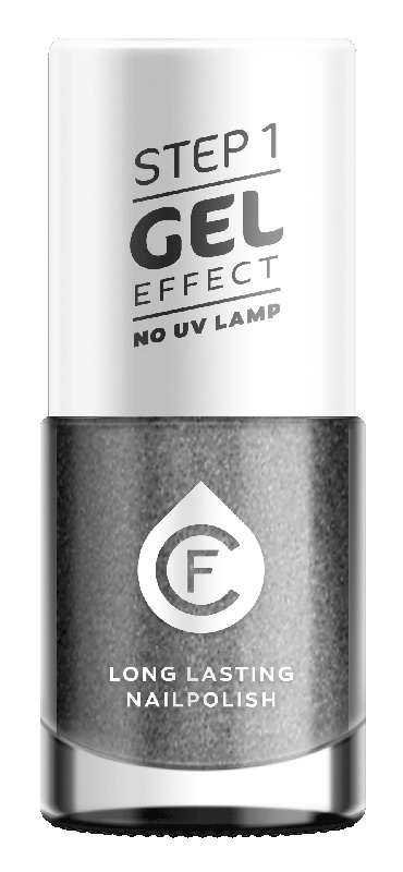 CF Gel Effekt Nagellak - Step 1 - 610. Iron Silver Gray