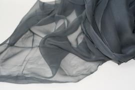 Chiffon zijde grijs, 110cm, 14g/m, prijs per meter