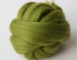 Merinowol (50 gram), helder groen, kleurcode 205 extra fijn, 18 micron