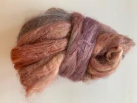 zijden lont, 3 gram, nummer 95 oud rosé lila