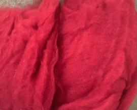 Bergschaap in vlies, vuur rood