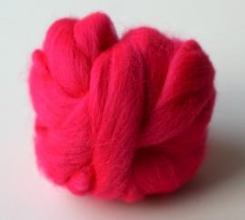 Merinowol (50 gram), neon kleur rose, kleurcode 280, 24-25 micron