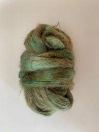 zijden lont, 3 gram, nummer 114 groen bruin