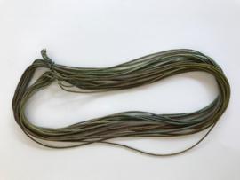 Zijde draad dik , groen bruin tinten, per 5 meter, nummer 1