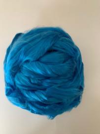 Moerbei zijden lont, turquoise blauw 10 gram