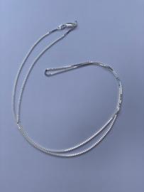 Zilveren ketting, 60 cm lang, 1,1 mm 3,6 gram
