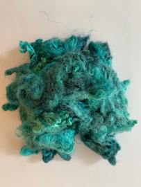 Zijde waste, 5 gram, turquoise , nummer 48
