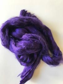 Moerbei zijden lont donker paars, 10gram