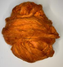 Sari zijden, oranje, per 10 gram, prijs