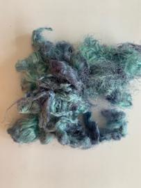 Zijde waste, 5 gram, blauwig tinten, nummer 52