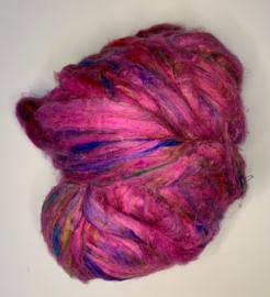 Sari zijden, neon rosé, per 10 gram, prijs