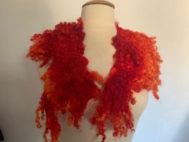 Wensleydale kraag, rood oranje