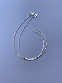 Zilveren ketting, 36 cm lang, 1 mm 1,9 gram