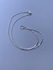 Zilveren ketting, 45 cm lang, 1,1 mm 2,8 gram