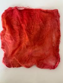 Hankies moerbei zijde 5 stuks, rood rosé oranje, nummer 37