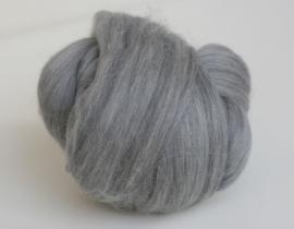 Merinowol (50 gram), helder grijs, kleurcode 144, 20-21 micron