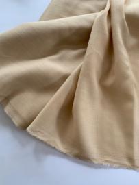 Etamine Bio-merino 19.5 micron 115 gr/m, beige, 148cm breed per meter