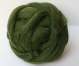Merinowol (50 gram), bos groen, kleurcode 164, 20-21 micron