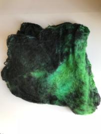 Hankies moerbei zijde 5 stuks, groen zwart, nummer 1