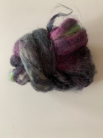 zijden lont, 3 gram, nummer 97 grijs paars mint