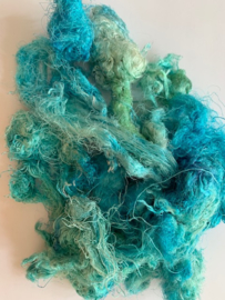 Zijde waste, 5 gram, turquoise, nummer 53
