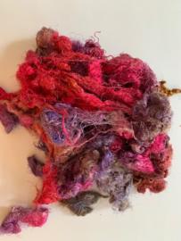 Zijde waste, 5 gram, paars rose tinten, nummer 49