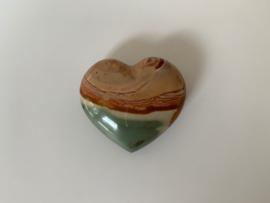Polychroom jaspis hart, nummer 10