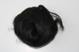 Vlas zwart, 60cm