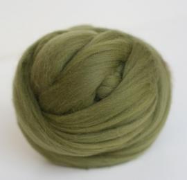 Merinowol (50 gram), olijf groen, kleurcode 149, 20-21 micron