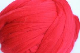 Merinowol (50 gram), fel rood, kleurcode 154, 21 micron