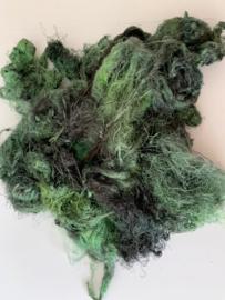 Zijde waste, 5 gram, groen tinten, nummer 81