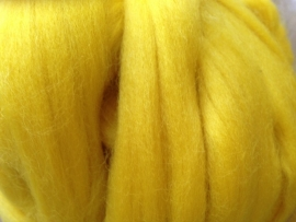 Merinowol (50 gram), neon geel, kleurcode 274, 24-25 micron